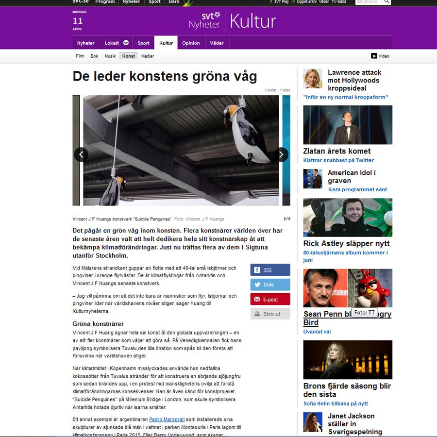 STV. La télévision suédoise et le «Green Art»