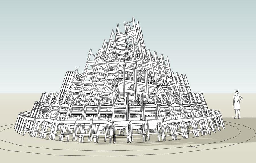 Tour de Babel. Essai de construction avant l'heure.