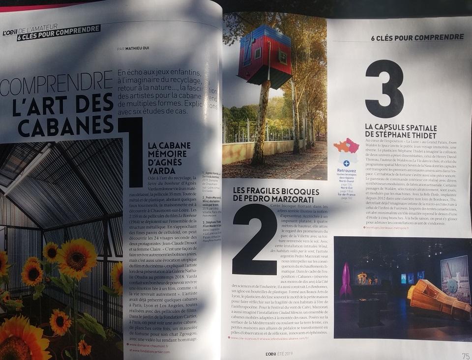 Comprendre l'art des cabanes PARr Mathieu Oui · L'ŒIL. 27/06/2019